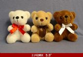 "60 Units of 5"" PLUSH BEARS IN THREE DIFFERENT COLORS"