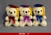 "60 Units of 6"" WHITE GRADUATION BEAR"