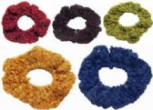 72 Units of assorted color crochet look scrunchies