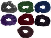 72 Units of Assorted fall colored velvet scrunchies