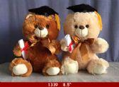 "12 Units of 8.5"" GRADUATION BEAR PAIR - Plush Toys"