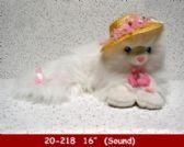 12 Units of WHITE LYING CAT - Plush Toys