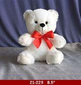 """36 Units of 9"""" SOFT SITTING WHITE BEAR - Plush Toys"""