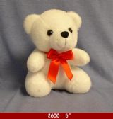 48 Units of WHITE BEAR WITH RED RIBBON - Plush Toys