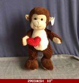 """24 Units of 10"""" Plush Monkey With Heart - Plush Toys"""