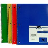 48 Units of 1 Subject Notebook, 70 Sheets, Wide Ruled - Notebooks