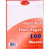 60 Units of Filler Paper 100 count College Ruled - PAPER