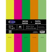 24 Units of Multi-Purpose paper, 80 sheets, neon colors - PAPER
