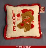 "12 Units of 16"" x 16"" PLUSH LOVE BEAR PILLOW WITH LOVE YOU - Pillows"