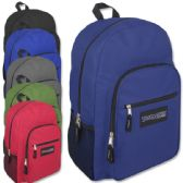 24 Units of Trailmaker Deluxe 19 Inch Backpack With Padding - 6 Colors