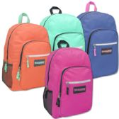 24 Units of Trailmaker Deluxe 19 Inch Backpack With Padding- Girls