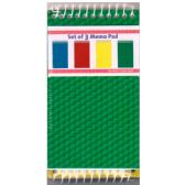 48 Units of 3 Pack Poly memo pads, 80 sheets - Dry Erase