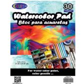 36 Units of Water color pad, 8.5x11, 30 sheets - Sketch, Tracing, Drawing & Doodle Pads
