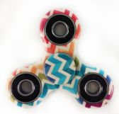 24 Units of Wholesale Multicolor Chevron Print Fidget Spinner - Fidget Spinners