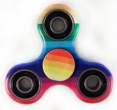 24 Units of Wholesale Rainbow Stripe Fidget Spinner