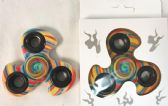 24 Units of Wholesale Swirl Rainbow Candle Graphic Fidget Spinners