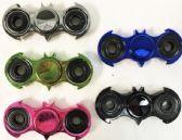24 Units of Wholesale Metallic Chrome Bat Shaped Fidget Spinners