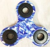 24 Units of Wholesale Blue Camouflage Fidget Spinners - Fidget Spinners