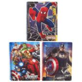 72 Units of Marvel Asst Spiral Bound Notebook 8.5 X 11 - Notebooks
