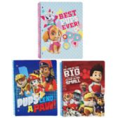 72 Units of Paw Patrol Spiral Bound Assorted Notebook 8.5 X 11 - Notebooks