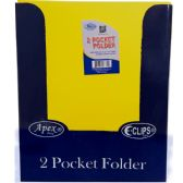 "48 Units of Yellow Premium Plastic 2 Pocket Folders - 9.5"" x 11.5"" - Folders and Report Covers"