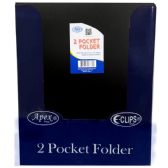 "48 Units of Premium Black Plastic 2 Pocket Folders - 9.5"" x 11.5"" - Folders and Report Covers"