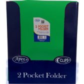 "48 Units of Premium Green Plastic 2 Pocket Folders - 9.5"" x 11.5"" - Folders and Report Covers"