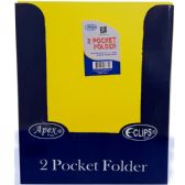 48 Units of Premium Yellow Plastic 2 Pocket Folders - Folders and Report Covers