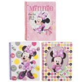 72 Units of Minnie Mouse Spiral Bound Assorted Notebook 8.5 X 11 - Notebooks