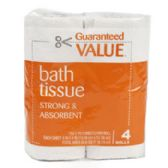 72 Units of Bath Tissue- 4 Rolls- 150 2ply Sheets Per Roll - Tissue Paper