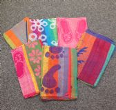 24 Units of Jacquard Beach Towels Assorted Colors and Patterns 30 x 60