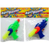 """144 Units of 7"""" WATER GUN IN POLY BAG W/ HEADER, 3 ASSRT COLORS"""