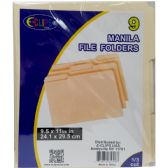 48 Units of Manila file folders, 1/3 cut, 9 pk.