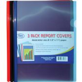 60 Units of Report Cover With Spine, 3 Pk., Asst. Colors
