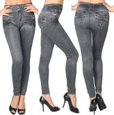 36 Units of Wholesale Women's Black Jeggings in Assorted Colors