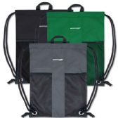48 Units of Adventure Trails Drawstring Backpack 3 Colors