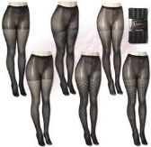 48 Units of Queen Size Isadora Fashion Textured Tights - Womens Pantyhose