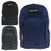 "24 Units of 19"" Bungee Design Backpack Asst Colors"