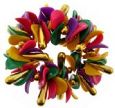 72 Units of Hair Scrunchies with multi-color beads - Hair Scrunchies