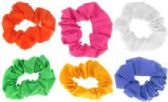72 Units of assorted color small hair scrunchies. - Hair Scrunchies