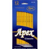 72 Units of APEX Classic #2 Pencils, 12Pk, Boxed, Sharpened