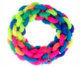 72 Units of multi-colored woven cord hair scrunchie - Hair Scrunchies