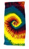 12 Units of Tye Die Beach Towel 30 x 60 Reactive Rainbow