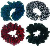 72 Units of Shoe lace style hair scrunchies - Hair Scrunchies