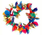 72 Units of Assorted color beaded hair scrunchie - Hair Scrunchies