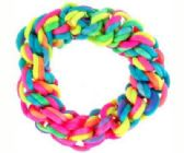 72 Units of multi-color braided look scrunchie - Hair Scrunchies