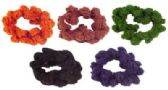 72 Units of Assorted colors crochet look scrunchie - Hair Scrunchies