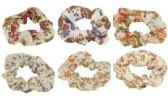 72 Units of Hair scrunchie with a floral print - Hair Scrunchies