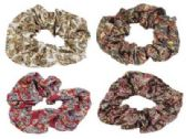 72 Units of Hair scrunchie with a paisley print, - Hair Scrunchies