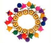72 Units of Multi-color and goldtone acrylic beaded scrunchies - Hair Scrunchies